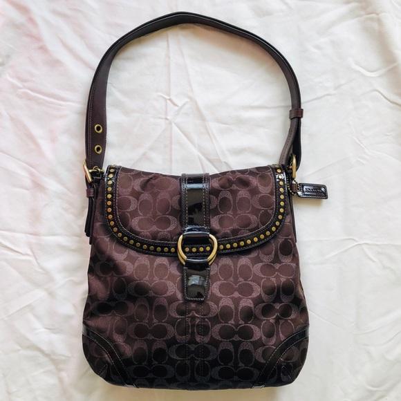 Coach Handbags - COACH Brown Crossbody F12852
